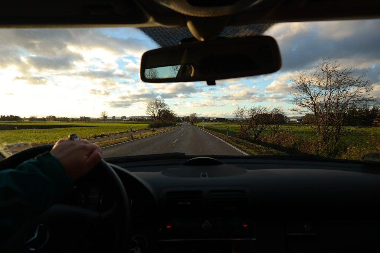 road, windscreen